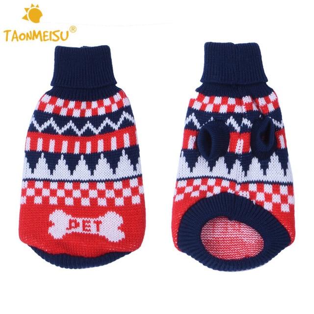 Kersttrui Hond.Taonmeisu Mode Hond Warme Kleding Hond Kerst Trui Bone Brief