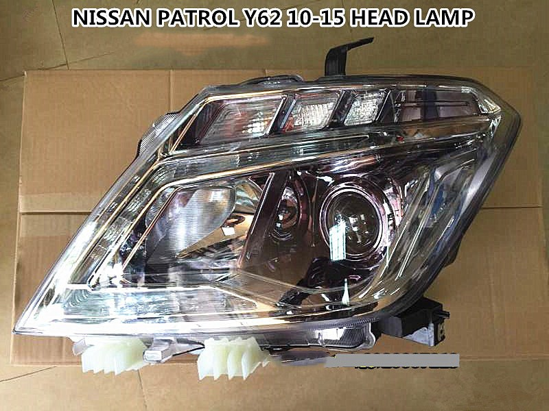 eOsuns headlight assembly for Nissan PATROL Polo Y62 ,2pcs
