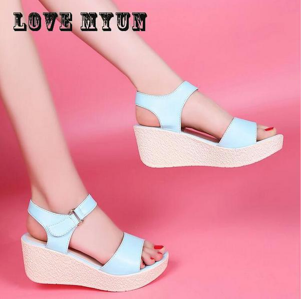 2017 hot sale Summer Women comfort Shoes Flat Platform Sandals Gladiator Sandals Thick Bottom Casual Shoes Woman Wedges Sandals phyanic 2017 gladiator sandals gold silver shoes woman summer platform wedges glitters creepers casual women shoes phy3323