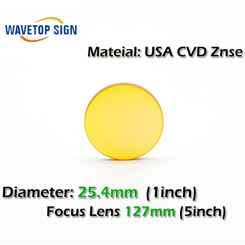USA CVD ZnSe CO2 Laser Focusing Lens Dia. 25.4 FL 127mm 5inch   Cutting Engraving Machine Accessories Carving Parts high quality znse focus lens co2 laser engraving cutter dia 19mm fl mm 1 5 free shipping