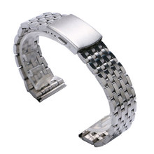 Cheap Silver Color Stainless Steel 18mm/20 mm/22mm Watch Strap Band With 2 Spring Bars For Watches high quality silver 18mm 20mm stainless steel watchbands strap bracelet for men women watches replacement with spring bars