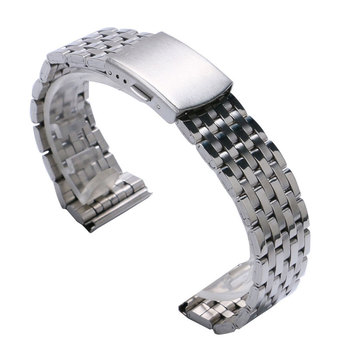 18mm/20 mm/22mm Silver Stainless Steel Watch Strap Band With 2 Spring Bars cinturino acciaio Wrist Watches Bracelet Men Women high quality silver 18mm 20mm stainless steel watchbands strap bracelet for men women watches replacement with spring bars