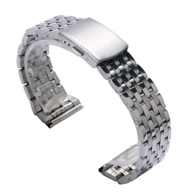 Cheap Silver Color Stainless Steel 18mm/20 mm/22mm Watch Strap Band With 2 Sprin