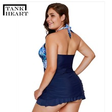 Blue Sexy Biquini Plus size Swimwear Two Piece Swimsuit Tankini  2 piece swimsuit women swimsuits bathing suit dress Swim Suit