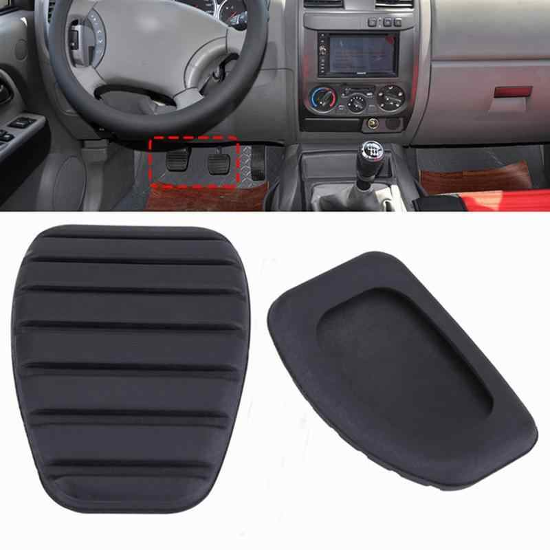 1pc Car Clutch And Brake Pedal Rubber Pad Cover For Renault Megane Laguna Clio Kango Scenic CCY Car Styling Accessories (Black)