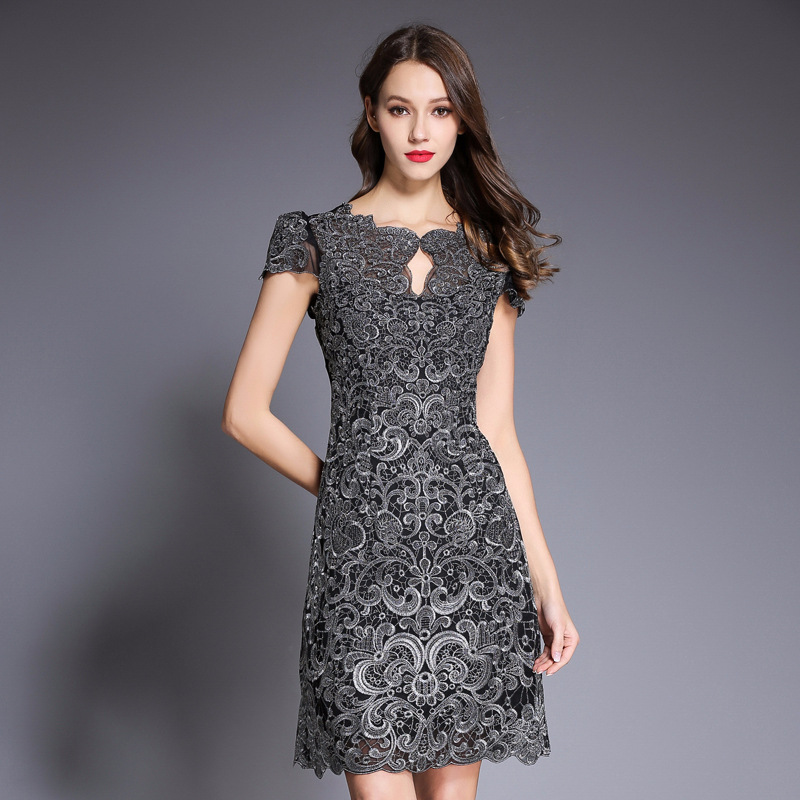 Detail Feedback Questions about Pencil dress 2018 new High quality spring  summer woman Elegant Short sleeve Dress Plus Size XXXL Package hip sexy  party ... ad1d6d0af68e