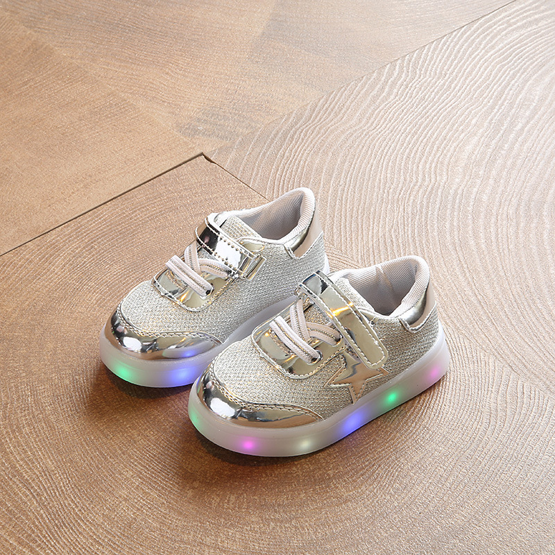 2018 shinning fashion unisex boys girls shoes LED all season lighted baby casual sneakers sports tennis baby toddlers footwear