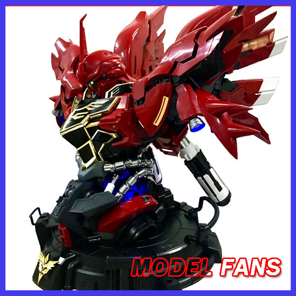 MODEL FANS INSTOCK YIHUI model assembly Gundam Sinanju bust model 1:35 contain led light action figure toy model fans in stock cg model mg hg pg a j set gundam assembly display machines nest action chain base figure toy gift