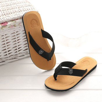 KESMALL Summer Beach Slippers Men Flip Flops High Quality Beach Sandals Zapatos Hombre Casual Shoe Wholesale WS321 3