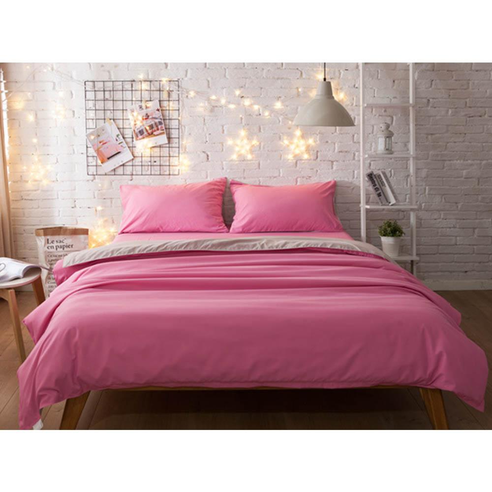 4Pcs/set Solid Color Bedding Sets 200*230CM Fashion Soft Bed Sheet Duvet Cover Pillowcase Comfortable Bed Linen Home para cama