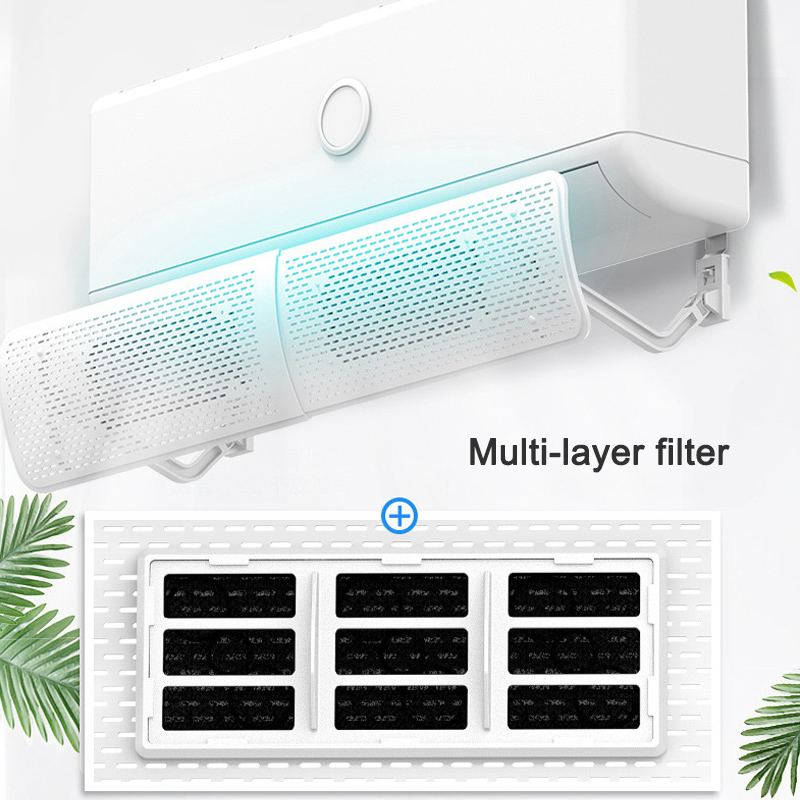 Air Conditioner Deflector Cold Wind Shield Anti Direct Blowing Telescopic Baffle For Home Hotel ALI88