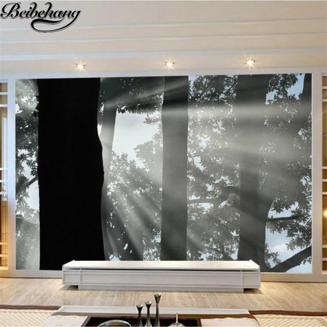 Beibehang sfondo Personalizzato foto 3d murale foresta nera fantasia ...