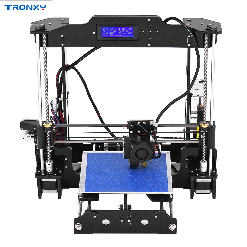 High Precision Desktop 3D Printer Kits DIY Self Assembly Acrylic Frame i3 with TF Card Big