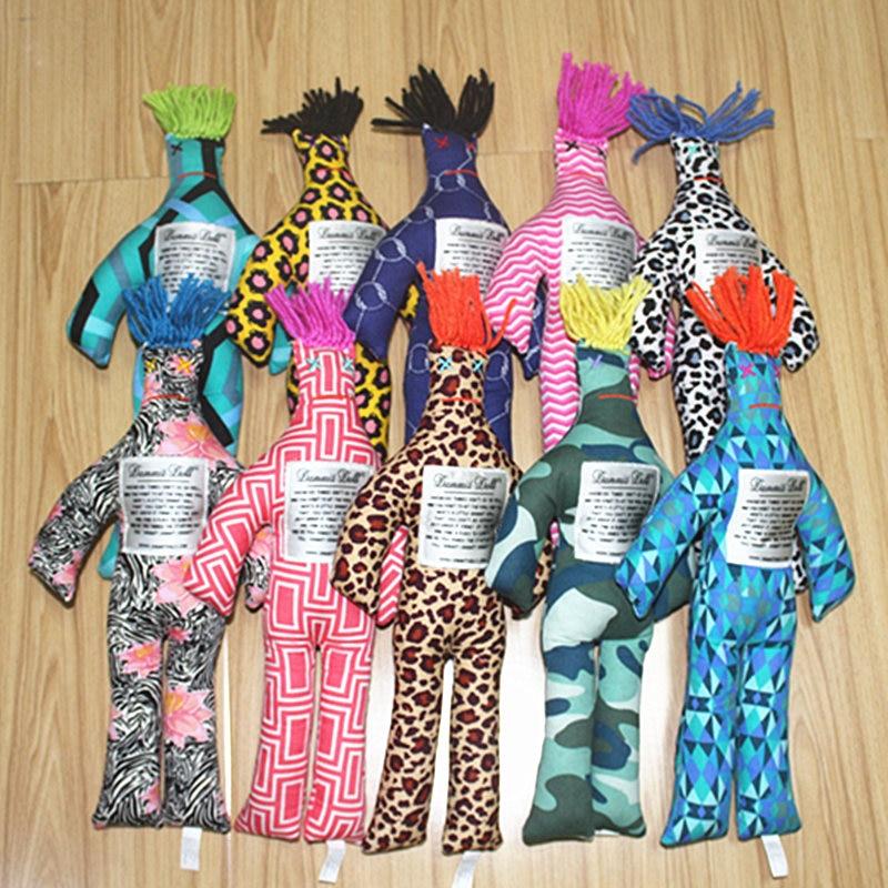 "1PCS Random Pattern Color Stress Relief 12/"" Dammit Doll Plush Kids Birthday Gift"