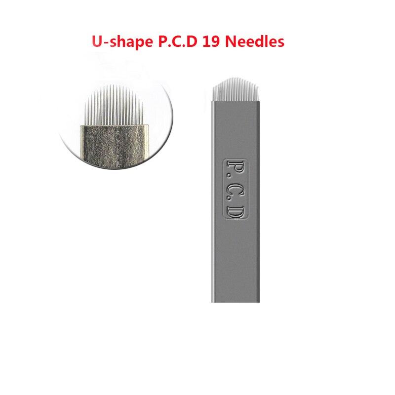 500 pcs Lamina Agulhas Tebori Microblading 12 pin Hard PCD Needle 12 Blade Permanent Makeup Eyebrow Tattoo Needles Supplies