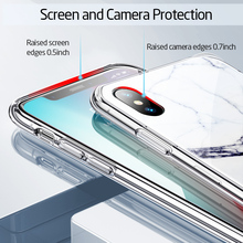 ESR Marble Painted Tempered Glass Back Case for iPhone X/Xs, Xr, Xs Max
