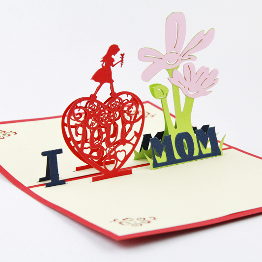Mothers Day Card 3d Pop Up Greeting Card Handmade Thanks