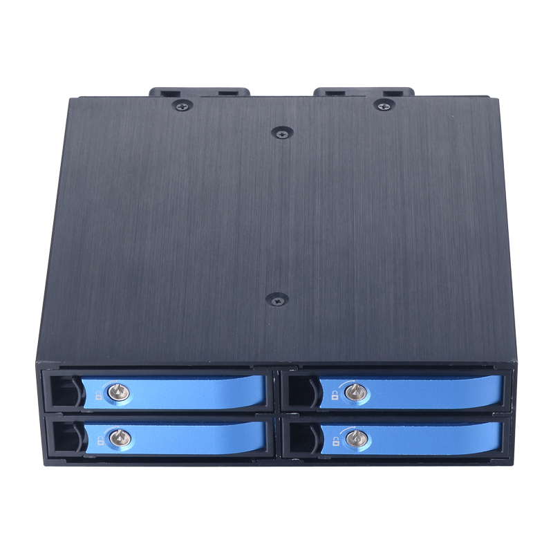 SATA Hot Swap Aluminum Mobile Rack for Four 2.5 SATA SSD/HDD with 40mm Cool fan Support 7mm / 9.5mm / 15mm 2.5 Inches Drives 4 bay 2 5 inch internal sata hdd ssd aluminum mobile rack with hot swap support 7mm 9 5mm 15mm hdd ssd enclosure with lock