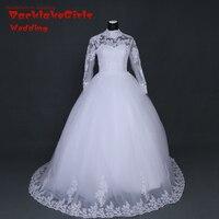 BacklakeGirls Weddin 2017 New Arrival White Ivory Lace Long Sleeve Wedding Dress Bridal Gown Custom Size