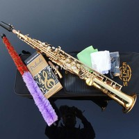 Saxophone Beautiful Golden Bb Straight Soprano Saxophone Saxophone France Henry Reference 54 Best Selling Top Musical