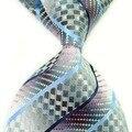 2016 nova chegada marca cobra prata cinza de casamento gravata dos homens laços novo xadrez de moda laços para homens gravata