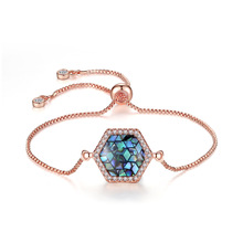 TIANRO natural abalone shell adjustable bracelet factory direct diy variety of copper plating multi-color accessories