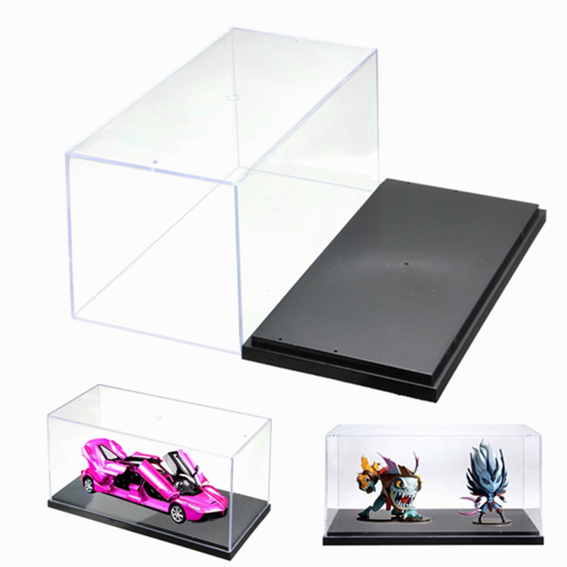 1pcs Building Blocks Clear Acrylic Plastic Single Black Display Box Case Protector Model Toys Dustproof Large Size 26*13*13cm plastic original building blocks minifigures show cases ladder collection parts box acrylic display case for action figures p150