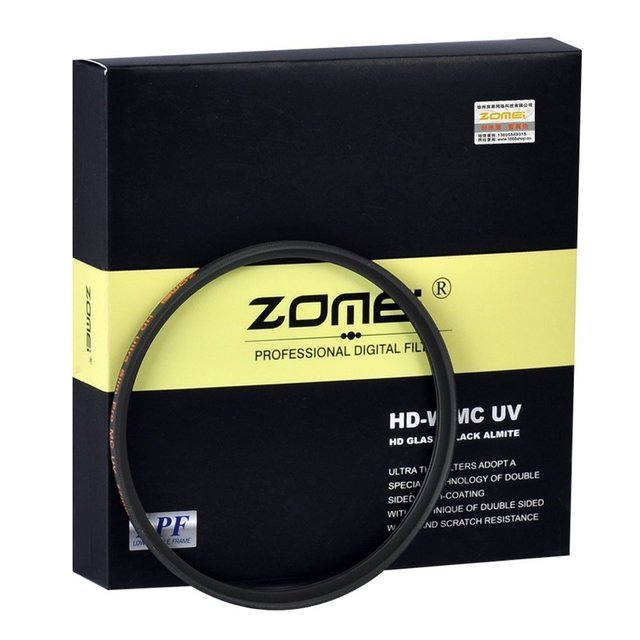 ZOMEI Camera Filter Ultra Slim HD MC UV filtro 40.5/49/52/55/58/62/67/72/77/82mm 18 Layer Multi Coating For Canon Nikon Sony