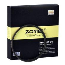 مرشح كاميرا ZOMEI فائق النحافة HD MC UV filtro 40.5/49/52/55/58/62/67/72/77/82 مللي متر 18 طبقة متعدد الطلاء لكانون نيكون Sony