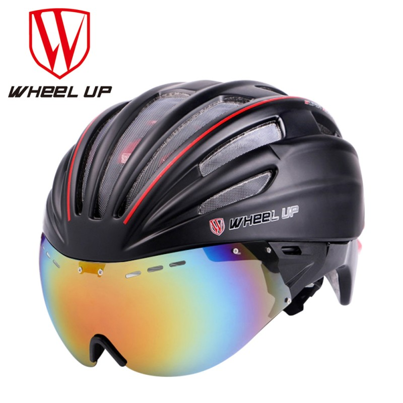где купить WHEEL UP MTB Road Mountain Ultralight Cycling Bicycle Helmet Safety Mountain Aerodynamic EPS Lens Bike Accessories дешево