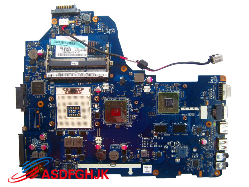 Original for Toshiba Satellite C660 laptop motherboard K000128440 PWWHA LA 7201P Test Free Shipping