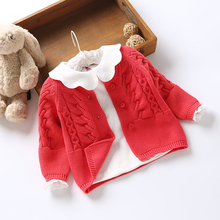 Girls sweaters Cardigan New 2019 Spring Autumn baby cute Knitting coat kids kinitted clothes Casual tops OUTERWEAR