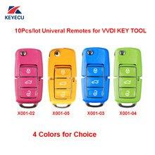 Xhorse 5 pçs colorido (rosa amarelo azul verde) universal remoto chave fob 3 botão para ferramenta chave vvdi, série x001