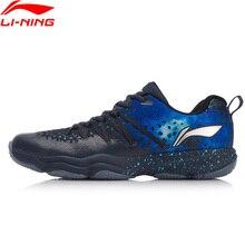 Клиренс) Li-Ning для мужчин Туманность обувь для бадминтона пригодно для носки анти-скользкая подкладка Фитнес Спортивная обувь Кроссовки AYTN035 XYY091