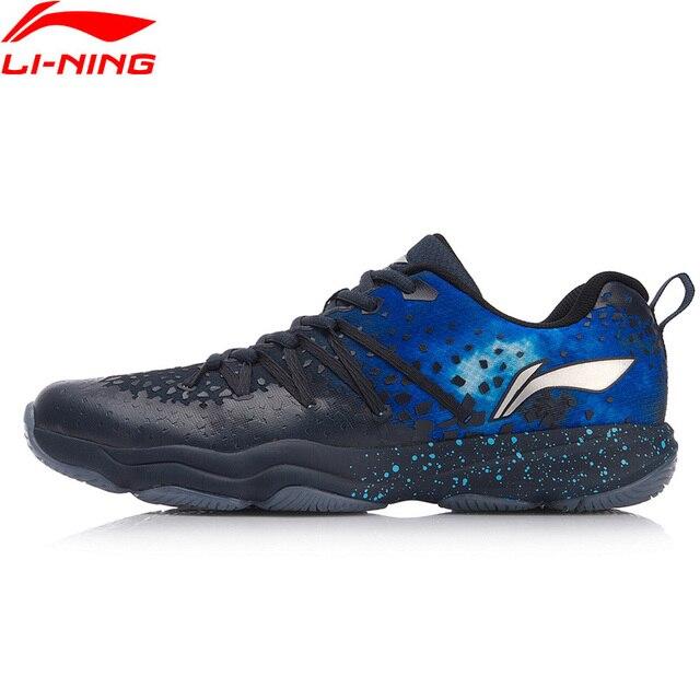 Li-Ning/Мужская обувь для бадминтона, с нескользящей подошвой, спортивная обувь для фитнеса, кроссовки, AYTN035 XYY091