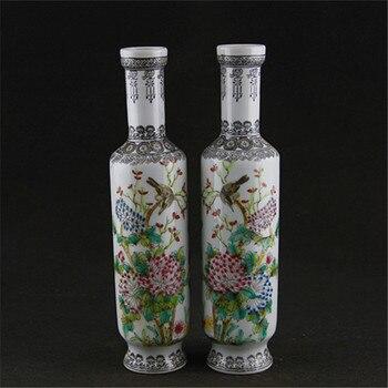 Jen Ren Tang Jingdezhen handpianted antique porcelain vases(paired price) antique porcelain ornaments