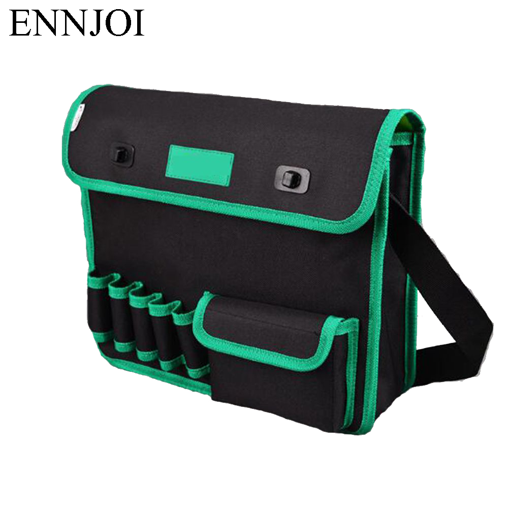 ENNJOI Electrician  multi-functional waterproof Oxford bag Tool Bag Belt Tool Pouch Utility Kits Holder with Pockets