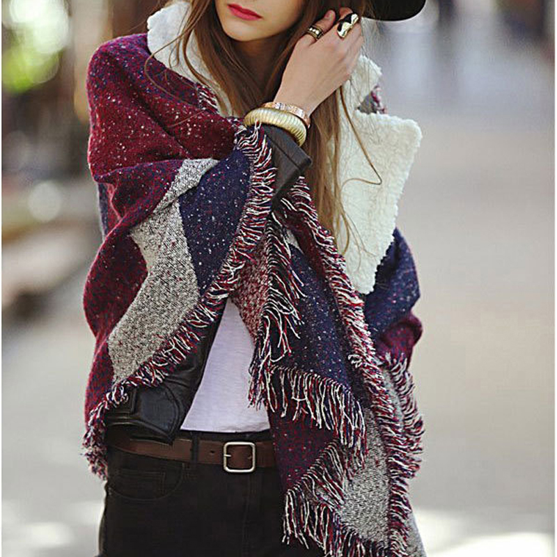 ZA Style 250cm*70cm Long Size Lady Big Brand Celebrity Women Winter Plaid   Scarf   Warm Fashion   Scarves   &   Wraps