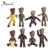 [New] Baby Groots Tree Man Figure Toys Keychain Pendant Guardians of Galaxy Dancing Movie Figures Toys Pendants Necklace gift(China)