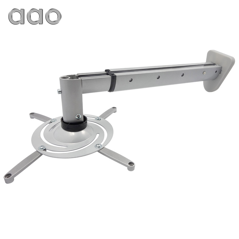 Projector Wall Mount Ultra long Aluminum Alloy 360 Degree Universal Motion Retractable Max 632mm Projector Hanger