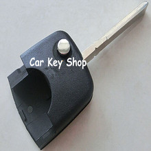 Good Quality  Car Flip Remote Key Head Shell For Audi A4 A6  Round WITH logo