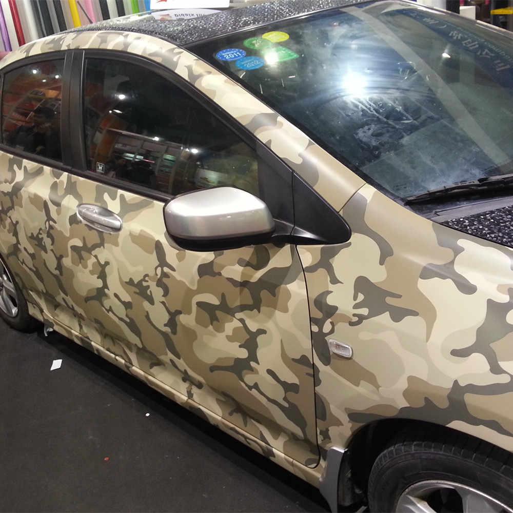 Araba Stling 20*152m kamuflaj araba vücut şal filmi Camo ordu yeşil araba stylings çıkartmalar ve çıkartmaları PVC vinil araba Sticker