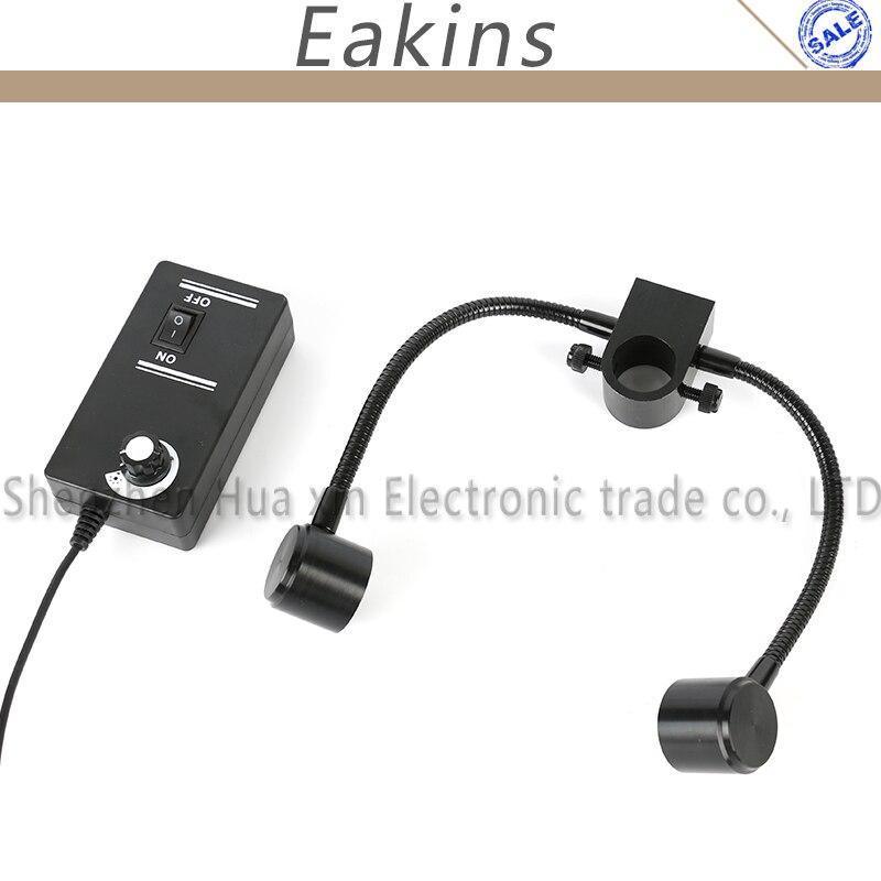 2X12 LED Einstellbare strahler lichtquelle Dual Schwanenhals Lichter Für Industrie Stereo Mikroskop Kamera Lupe