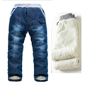 Осень зима дети джинсы теплые кашемировые брюки дети джинсовые брюки детские жан брюки для мальчиков 3 - 7 века