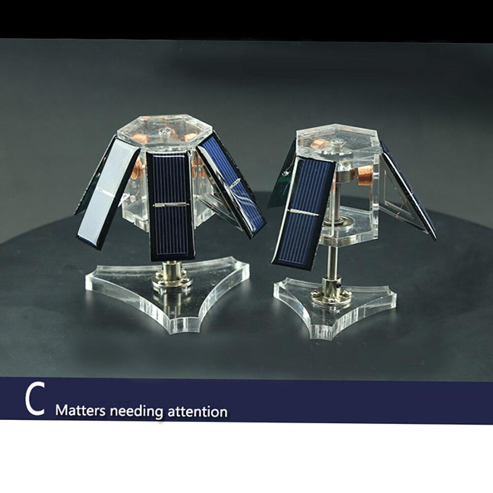 Mendocino moteur lumière motif solaire jouet science physique Souptoys solaire rotation pression réduisant EDC jouet