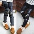 Детская одежда длинные брюки детские брюки плюс бархат девочка-подросток утолщение тонкий зима мультфильм кролик дети поножи