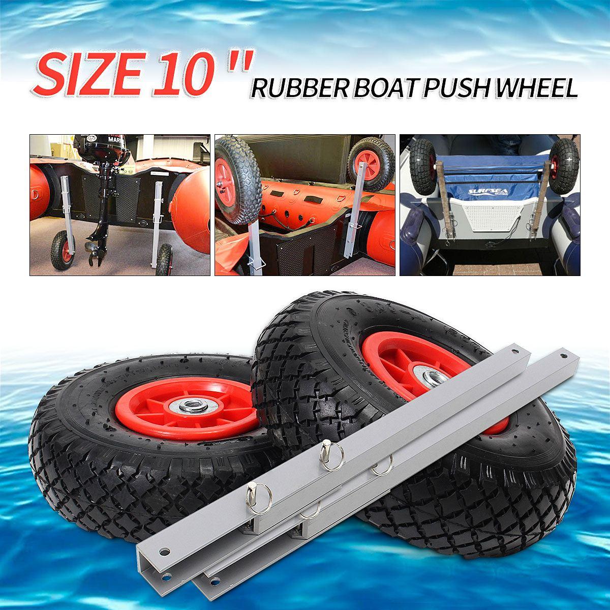 La plus nouvelle 1 paire de roue de lancement de tableau arrière de bateau pour le bateau gonflable Kayak dériveur Yacht radeau chariot Kayak accessoires