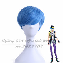 New High quality B-project Aizome Kento Cos Wig Blue Hair Short 30cm  Anime Cosplay Wigs peruca cabelo sintetico