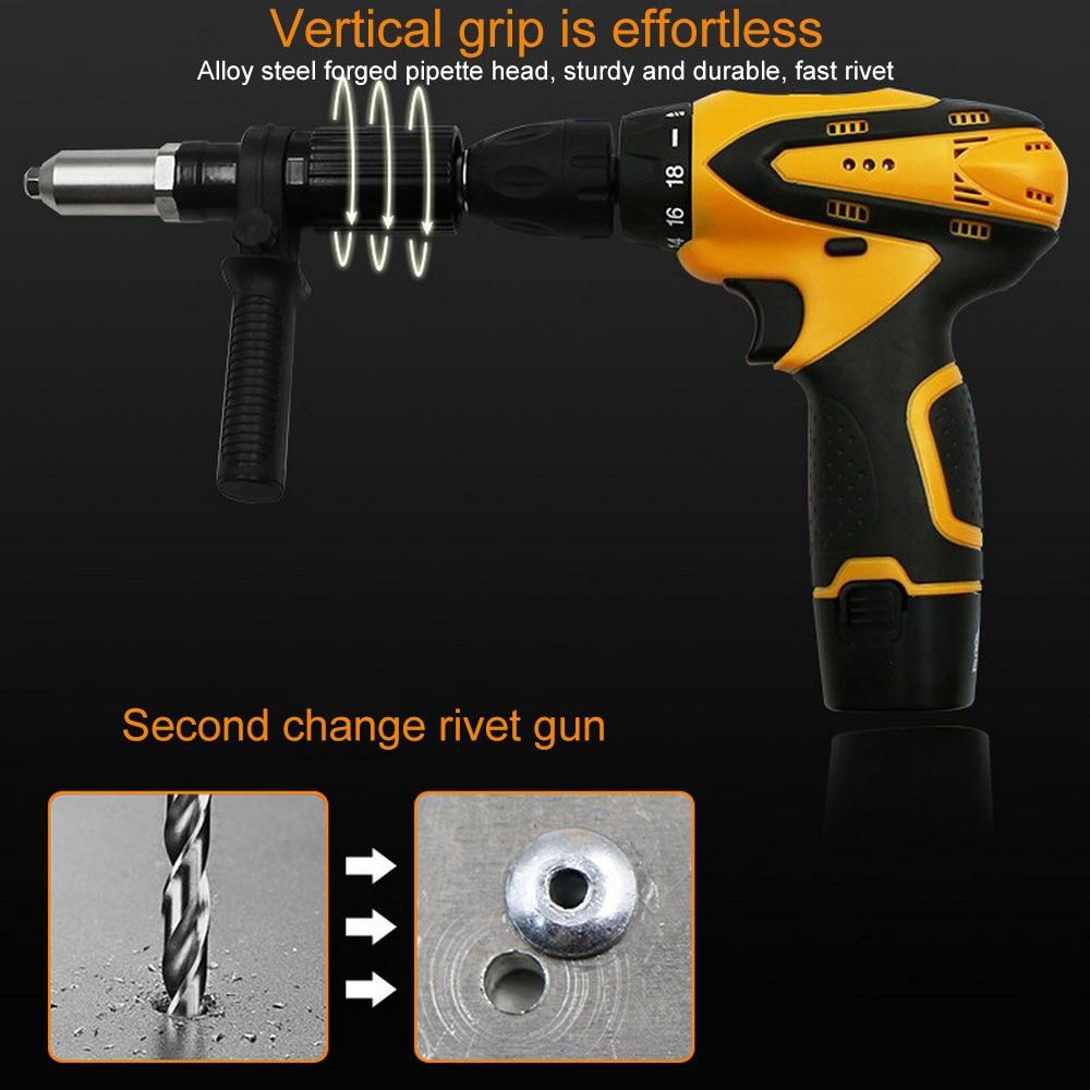 10A Rivet Guns Machine Pull Conversion Head Accessories Core Pulling Suitable 2.4/3.2/4.0/4.8mm Rivet Interface
