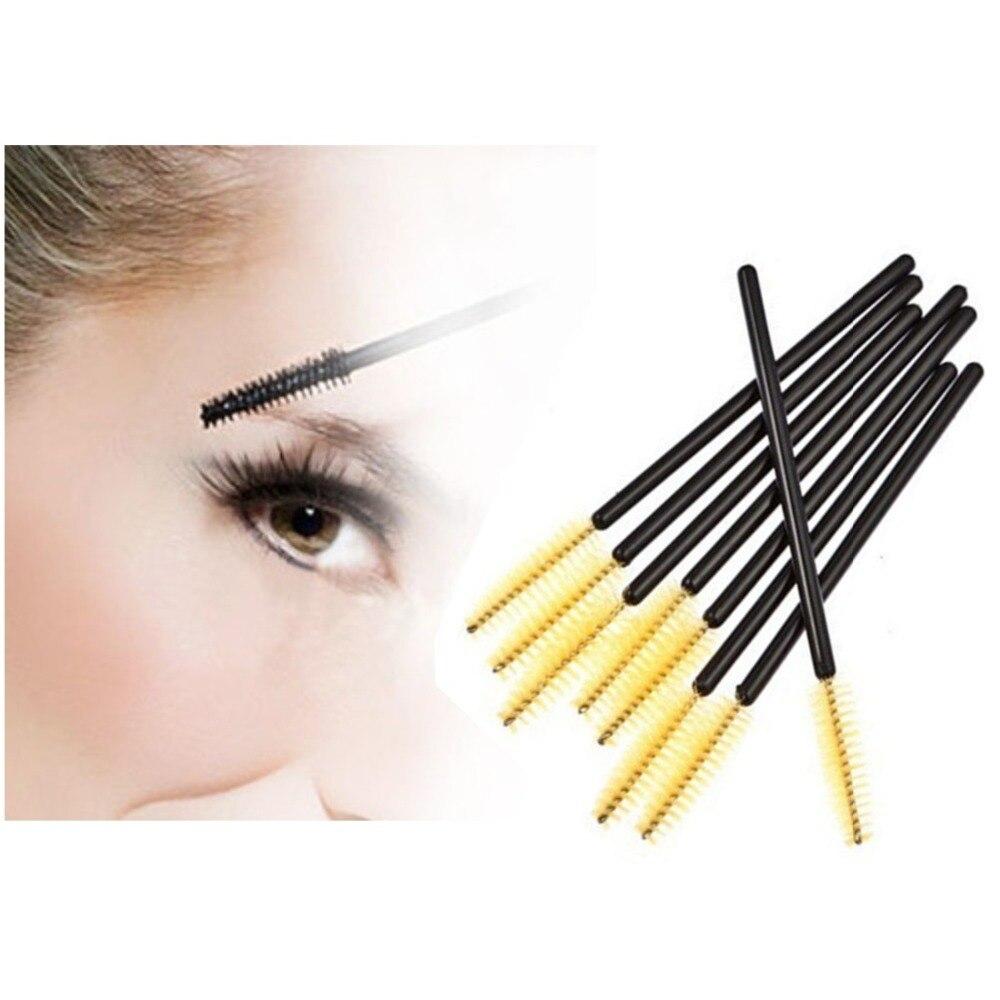 Nuevo 100 unids/lote Maquillaje Pincel de Fibra Sintética Amarilla One-Off Desec